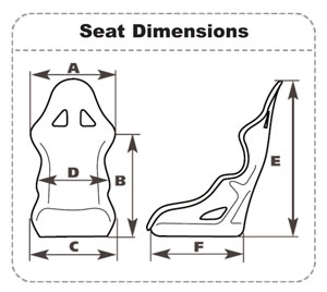 Sparco competition FIA racing seat dimensions